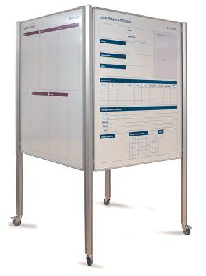 CUBE staanders 200cm + 4x visual management bord 90x120cm - 200 cm