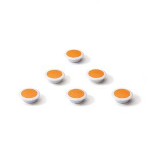 Glasbordmagneten oranje
