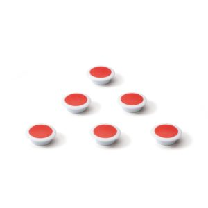 Glasbordmagneten rood