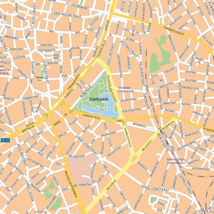 Antwerpen - 110x110 cm