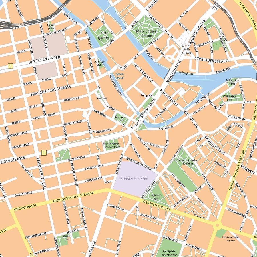 Berlijn - 110x110 cm