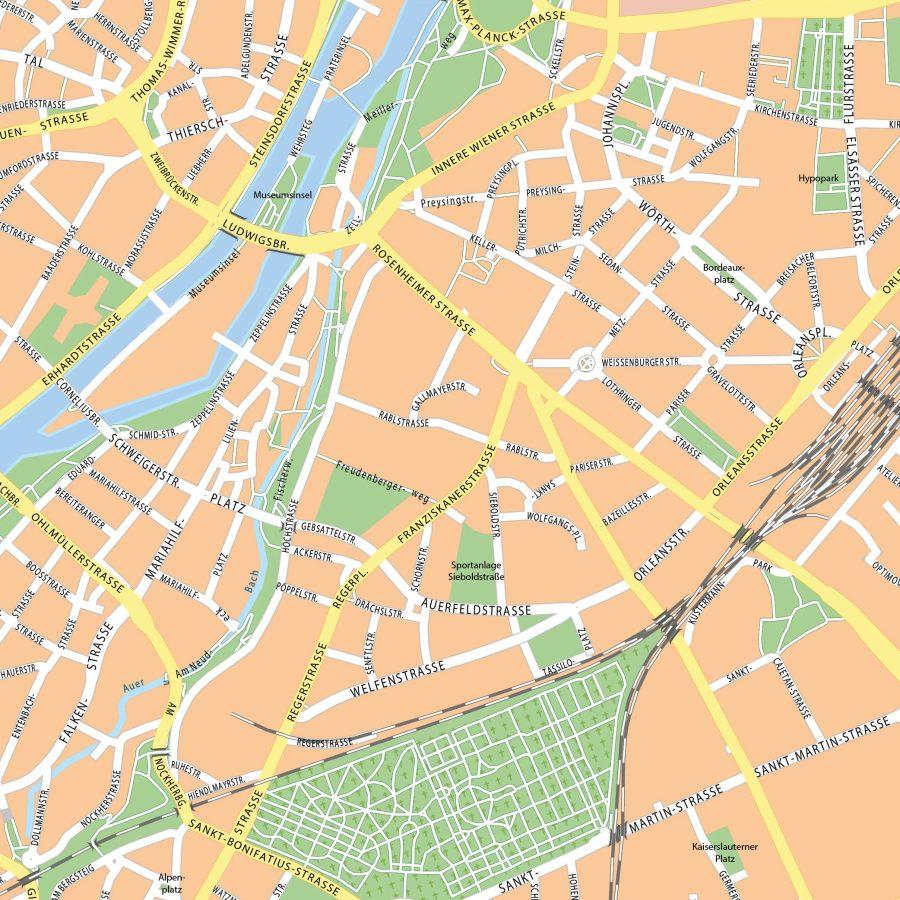 München - 110x110 cm