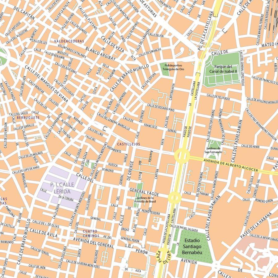 Madrid - 110x110 cm