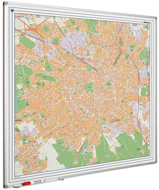 Landkaart bord Softline profiel 8mm