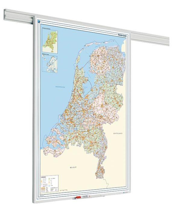 Railsysteem landkaart