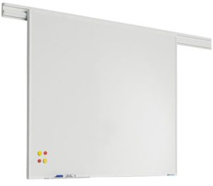 PartnerLine Rail whiteboard emailstaal wit - 90x180 cm
