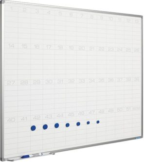 Planbord Softline profiel 8mm Jaaroverzicht - 60x90 cm