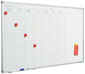 Planbord Softline profiel 8mm Week GB - 60x120 cm