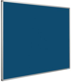 Prikbord Softline profiel 16mm bulletin Blauw - 90x120 cm