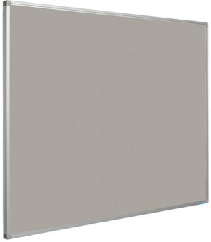 Prikbord Softline profiel 16mm bulletin Grijs - 120x180 cm