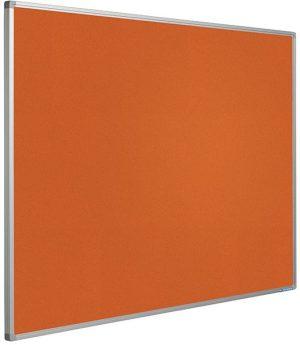 Prikbord Softline profiel 16mm bulletin Oranje - 120x300 cm