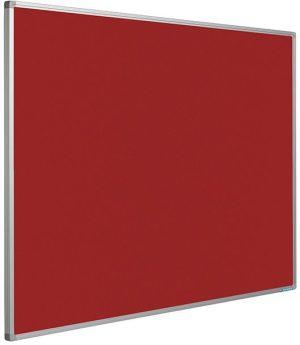 Prikbord Softline profiel 16mm bulletin Rood - 120x300 cm