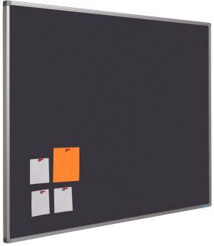 Prikbord Softline profiel 16mm bulletin Zwart - 90x120 cm
