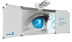 Projectiebord Extraflat voor interactieve touch beamers