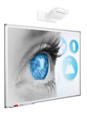 Projectiebord Softline profiel 8mm email matwit (4:3) - 150x200 cm