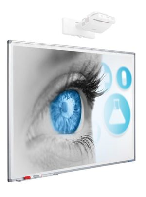Projectiebord Softline profiel 8mm email matwit 5:2 - 120x300 cm