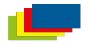 Symbool Rechthoek blauw