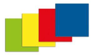 Symbool Vierkant blauw