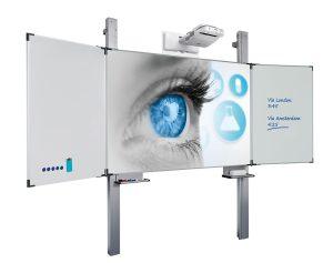 Vijfvlaks projectiebord Extraflat voor interactieve beamers