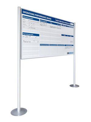 Whiteboard RC10 dubbelzijdig bedrukt - 120x200 cm