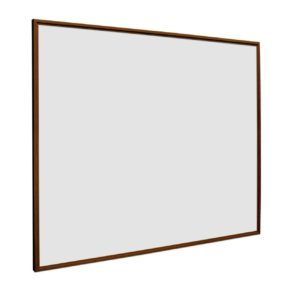 Whiteboard Softline profiel 16mm Noten-houtlook